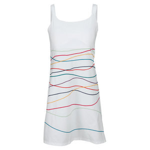 ELIZA AUDLEY WOMENS RIBBON TWIST TENNIS DRESS WHITE