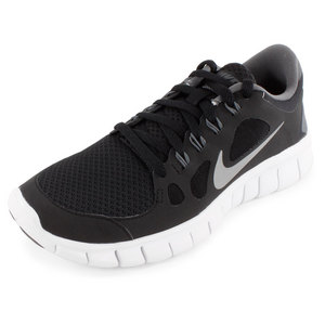 NIKE BOYS FREE 5.0 RUNNING SHOES BLACK/GRAY