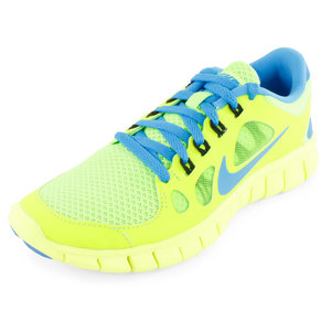 NIKE BOYS FREE 5.0 RUNNING SHOES GREEN/BLUE