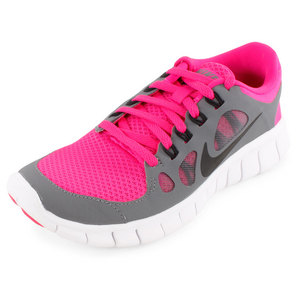 NIKE GIRLS FREE 5.0 RUNNING SHOES PINK/GRAY