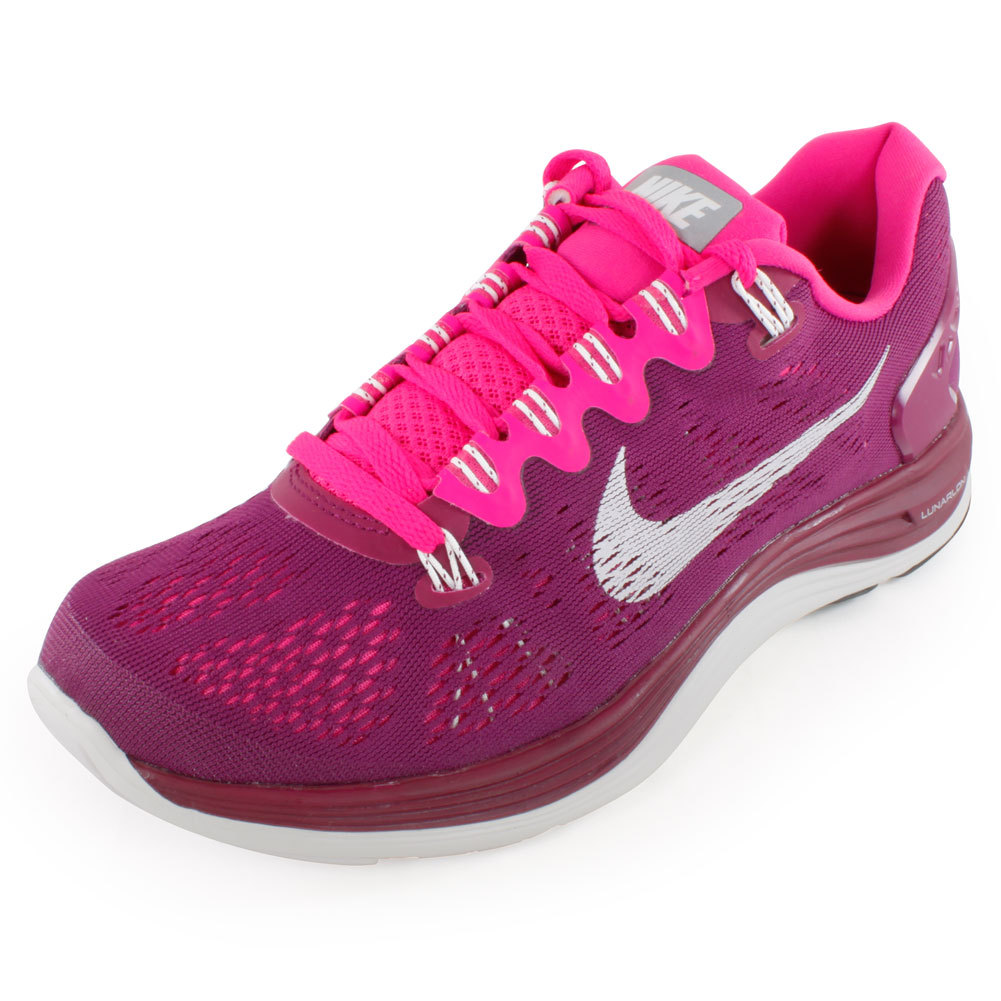 Women's Lunarglide + 5 Running Shoes Red And Pink