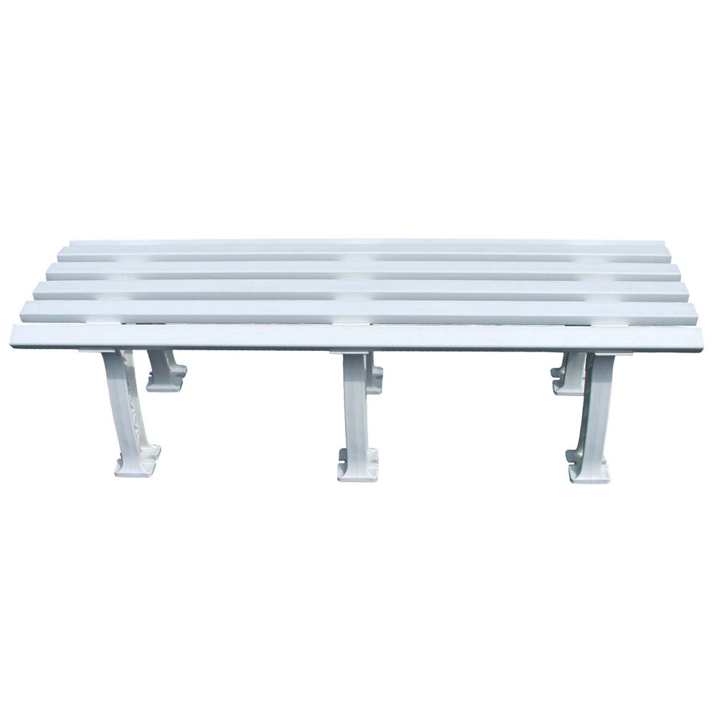 Tennis Mid Court Bench 5 Feet White