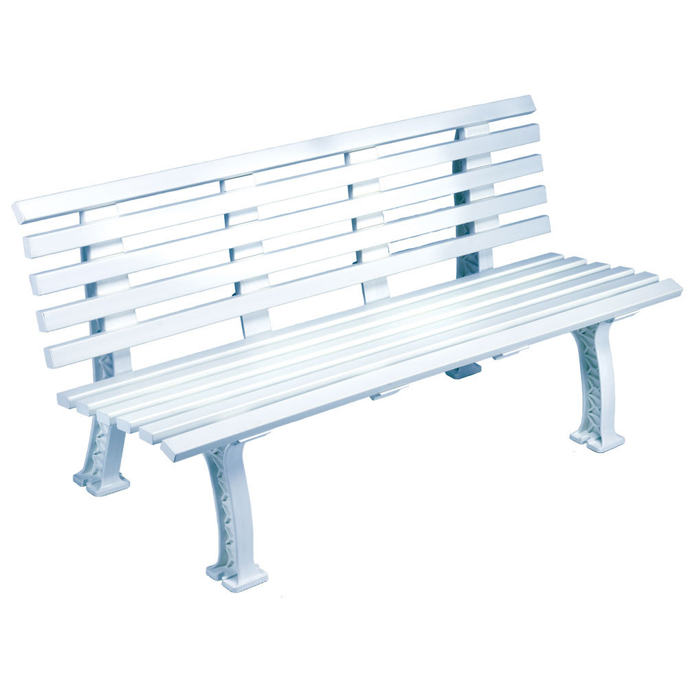 Tourna Tennis Court Bench 5 Feet White
