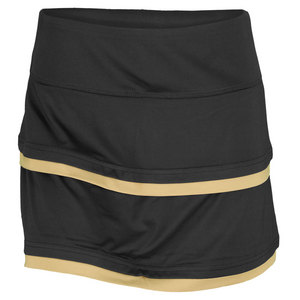 BOLLE WOMENS COSMIC GLOW SKORT BLACK/GOLD