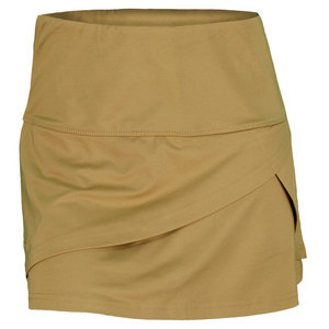 BOLLE WOMENS COSMIC GLOW TENNIS SKORT GOLD