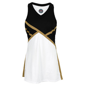 BOLLE WOMENS COSMIC GLOW DRESS BLACK/WHITE