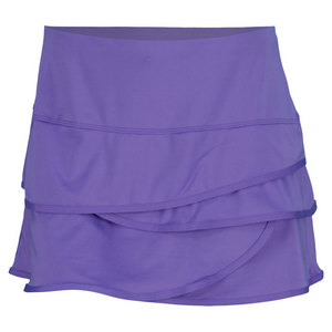 LUCKY IN LOVE WOMENS SCALLOP BORDER SKIRT PURPLE