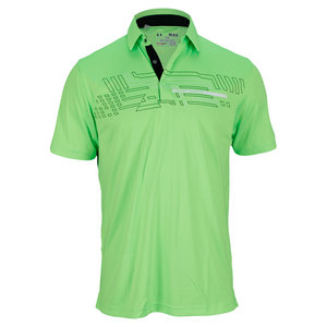 UNDER ARMOUR MENS GRAPHIC ENERGY STRIPE POLO HYPER GN