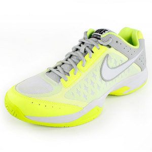NIKE MENS AIR CAGE COURT SHOES YELLOW/GRAY