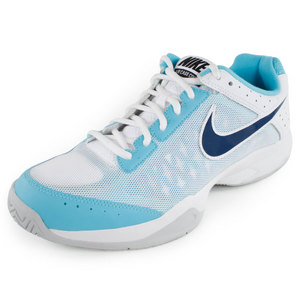 NIKE MENS AIR CAGE COURT SHOES BLUE/WHITE
