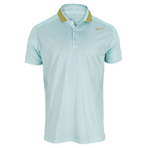 NIKE MENS PREMIER RF TENNIS POLO GREEN/GOLD