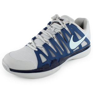 NIKE MENS ZOOM VAPOR 9 TOUR SHOES GY/BL