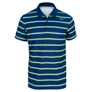 NIKE MENS RALLY SPHERE STRIPE POLO NAVY