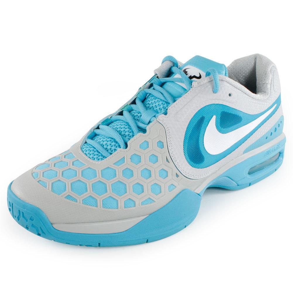 Men's Air Max Courtballistec 4.3 Tennis Shoes Blue And Gray