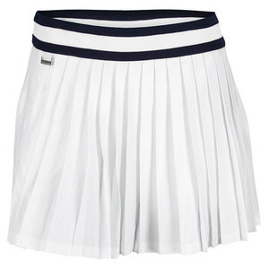 POLO RALPH LAUREN WOMENS BRISTOL PLEATED TENNIS SKORT WHT