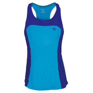 WILSON WOMENS GET IT RACERBACK TANK CYAN/INK