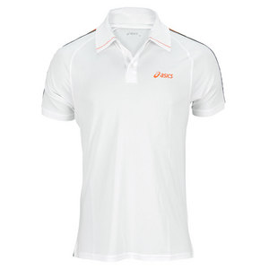 ASICS MENS GAME TENNIS POLO WHITE