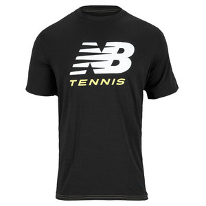NEW BALANCE MENS BIG BRAND TENNIS TEE BLACK