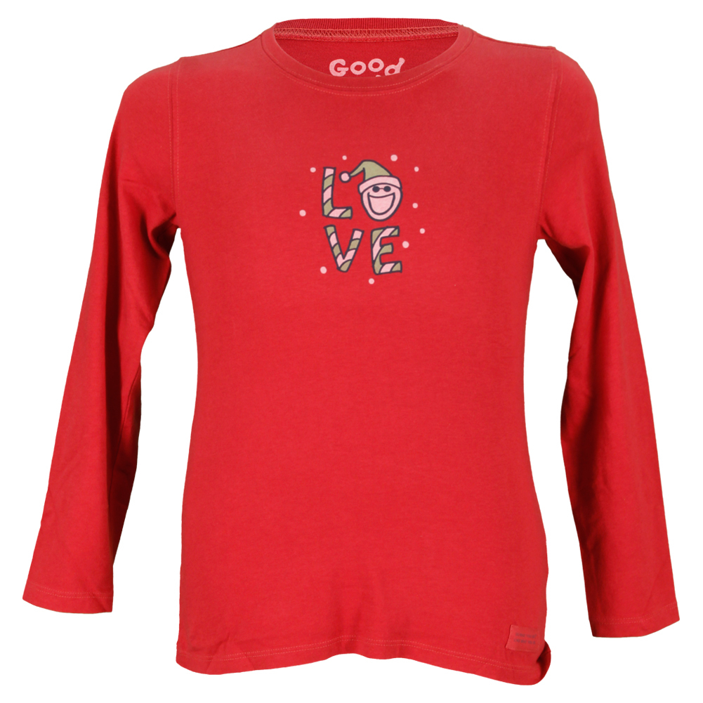 Girls ` Holiday Love Long Sleeve Tee Red