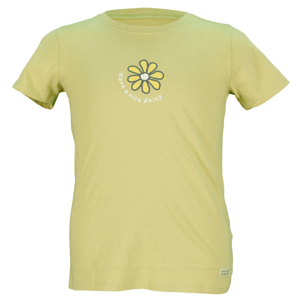 Girls ` Have A Nice Daisy Crusher Tee Green