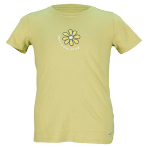 LIFE IS GOOD GIRLS HAVE A NICE DAISY TEE GREEN