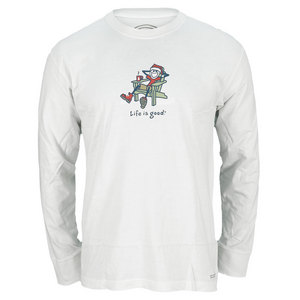 Men`s Jake Santa Long Sleeve Tee White