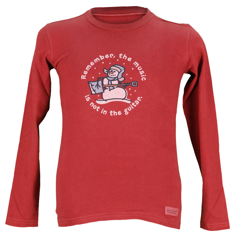 Boys ` Remember Snowman Long Sleeve Tee Red