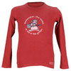 LIFE IS GOOD Boys` Remember Snowman Long Sleeve Tee Red