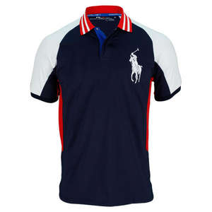 POLO RALPH LAUREN MENS BALL BOY TENNIS POLO NAVY