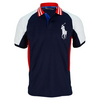 POLO RALPH LAUREN Men`s Ball Boy Tennis Polo Navy