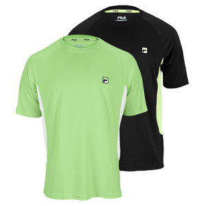 FILA MENS CENTER COURT JACQUARD TENNIS CREW