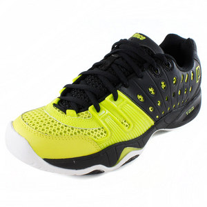 PRINCE MENS T22 TENNIS SHOES BLACK/GREEN