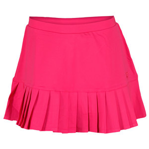 FILA WOMENS PLEATED KNIT TENNIS SKORT PINK