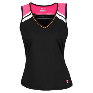 FILA WOMENS BASELINE FULL COVERAGE TANK BLACK