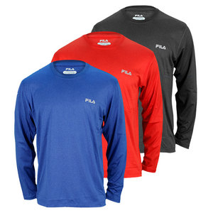 FILA MENS LONG SLEEVE HEATHER TEE