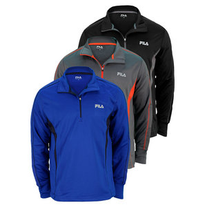 FILA MENS 1/4 ZIP LONG SLVE PERFORMANCE TOP