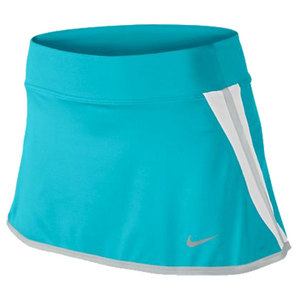 NIKE WOMENS POWER 11.8 INCH TENNIS SKIRT BLUE