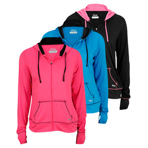 FILA WOMENS DAY GLO PERFORMANCE HOODIE