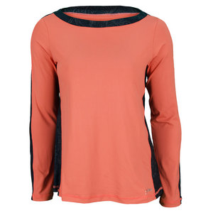 SOFIBELLA WOMENS BEAT LS TENNIS TOP SUNSET