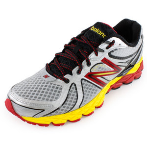 NEW BALANCE MENS 870V3 RUNNING SHOES SILV/YL/RED