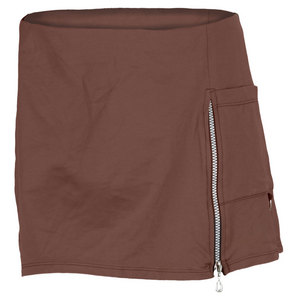 VICKIE BROWN WOMENS CARGO TENNIS SKORT BROWN