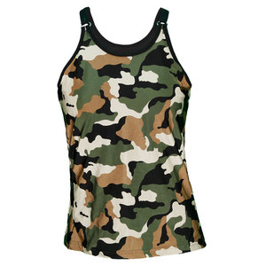 VICKIE BROWN WOMENS D RING TENNIS TANK CAMO