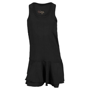 VICKIE BROWN WOMENS RACHEL TENNIS DRESS BLACK