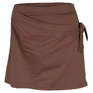 VICKIE BROWN WOMENS TIE TENNIS SKORT BROWN