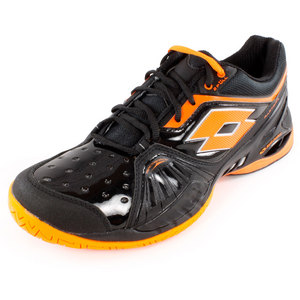 LOTTO MENS RAPTOR ULTRA IV SPEED SHOES BLK/ORG