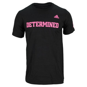 adidas MENS DETERMINDED TENNIS TEE BLACK