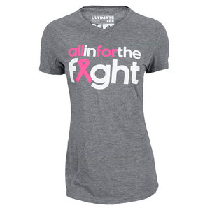 adidas WOMENS ALL IN FOR THE FIGHT BCA TEE GRAY