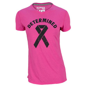 adidas WOMENS DETERMINED TENNIS TEE PINK