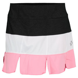 JOFIT WOMENS MANHATTAN PANEL SKORT BGUM/HTR