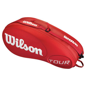 WILSON TOUR 6 PACK TENNIS BAG RED MOLDED
